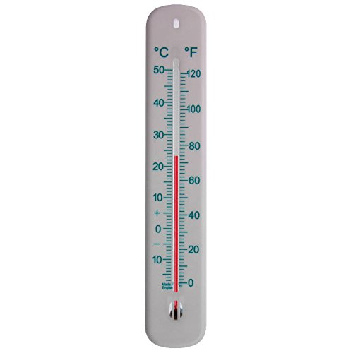 215mm White Wall Thermometer C&F - Ideal for Home, Office, Garden & Greenhouse - Can be used Indoor and Outdoor Thermometer World