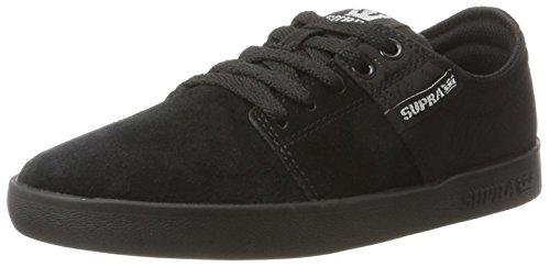 Supra Herren Stacks Ii Sneaker Noir (Black/Silver Black)