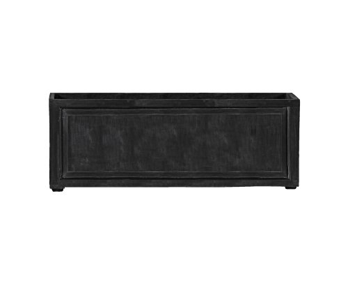 Amedeo Design 2514-24C ResinStone Recessed Panel Rectangular Planter, 96 by 24 by 24-Inch, Charcoal