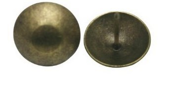 Antique Brass Round Large-headed Nail Diameter - 3