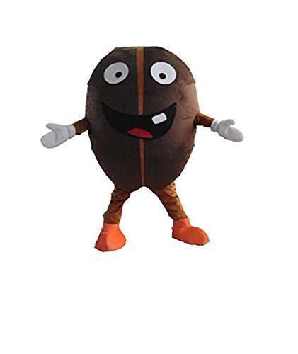 Coffee Bean Mascot Costume Adult Size Fancy Dress (Coffee Bean Halloween Costumes)