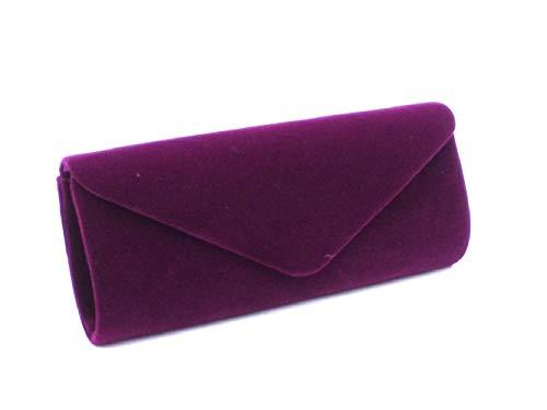 de Mariage Sac coloré Sac Main à Vintage Daim Sac Mesdames Main à Haute Sac Qualité en à Main d'embrayage Sac Style soirée de ZHRUI Violet Rouge wq6Zgx