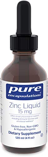 Pure Encapsulations - Zinc Liquid 15 mg - Zinc Gluconate Hypoallergenic Supplement for Immune Support* - 120 ml (4 fl oz)