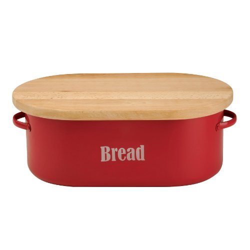 Typhoon Red Bread Box, 19-3/4 by 11 by 7-1/2-Inches