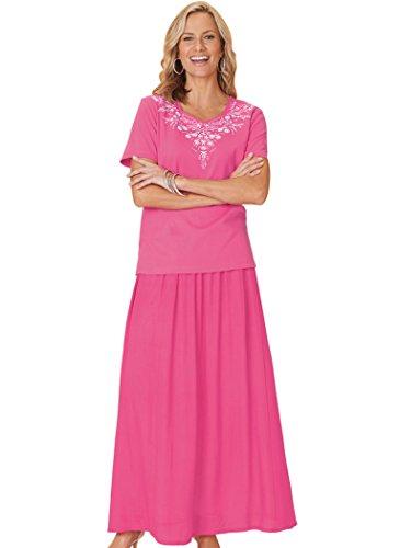 Maxi Skirt Set Plus Size Crinkled Cotton Maxi Skirt