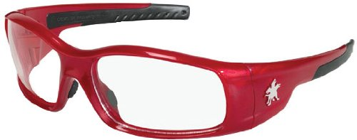 Crews SR130 Swagger Brash Look Polycarbonate Dual Lens Glasses with Crimson Red Frame and Clear Lens