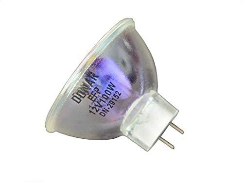2pcs EFP 12V 100W RM-105 Donar Bulb for ELMO VP-D100 ST-600 ST-800 K-100 SM Elmo HiVision SC-18 8mm projector K110 SM K120 SM K-110SM K-120SM ST-180E ST-600D ST-180 GS-800 S710D ()