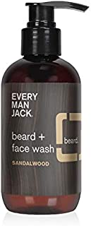product image for Every Man Jack Beard + Face Wash - Sandalwood | 6.7-ounce - 1 Bottle | Naturally Derived, Parabens-free, Pthalate-free, Dye-free, and Certified Cruelty Free