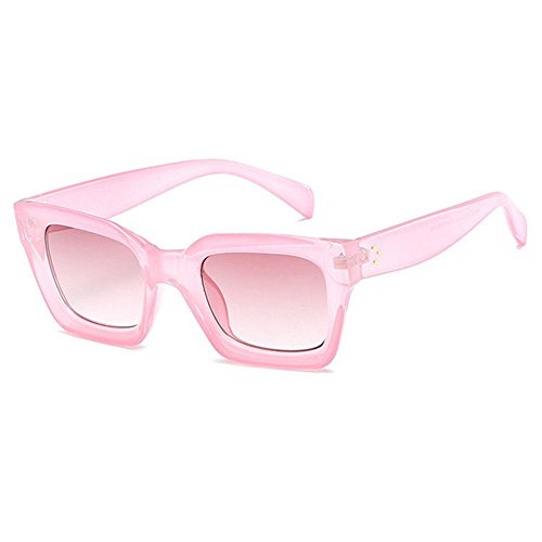Aoligei Mode image gelée hommes lunettes de soleil rectangulaires tendance européenne lunettes de soleil femmes rondes visage lunettes de soleil u3RmOM6