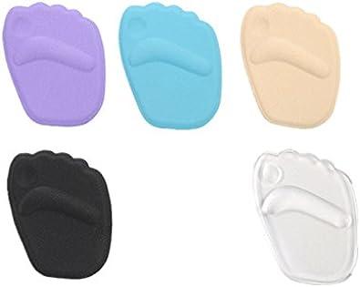 [幸せな] つま先 インソール クッション パッド シリコン 3Dデザイン 快適 靴のサイズ調整にも 通気性 抗菌 5色