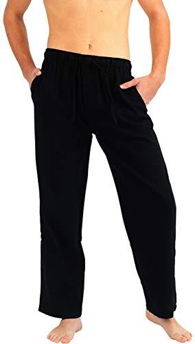 (NORTY - Mens Cotton Flannel Sleep Pajama Pant, Black 40737-Medium)