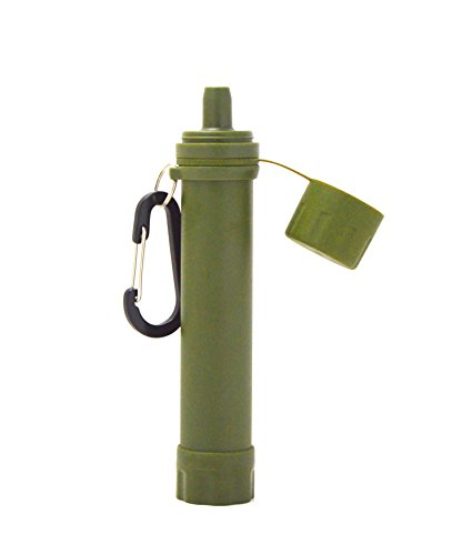 Lightweight Personal Water Filter Straw for Camping Gear, Hiking Trips, Traveling Survival Kit for the Outdoors