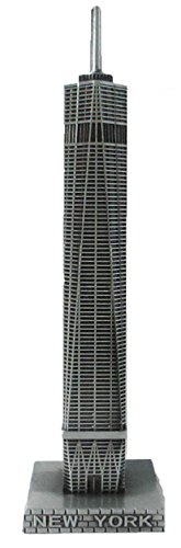 Lisa NY Metal Freedom Tower One World Trade Center Sculpture Replica 4.5 Inches Tall (Sculpture Replica)