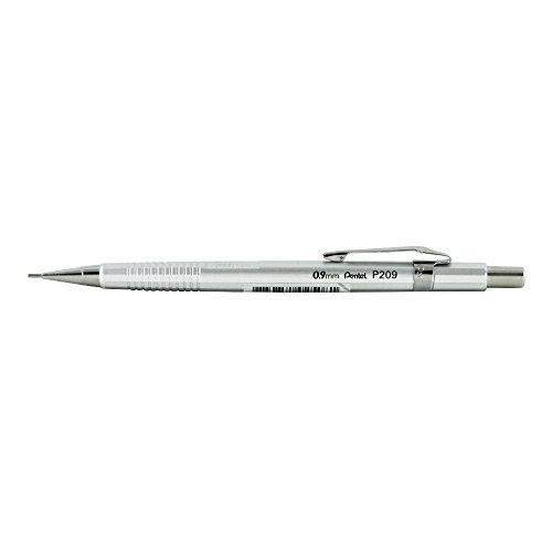 (Pentel P209 Sharp Mech Pencil 0.9mm Met.Silvr)