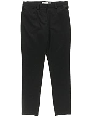 Calvin Klein Womens Pattern Flat Front Skinny Pants