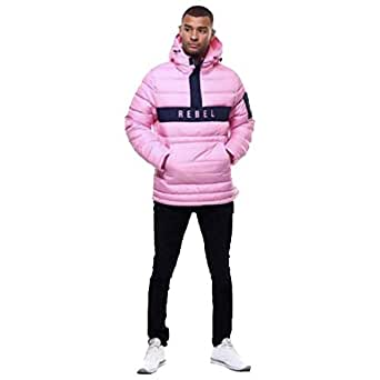 Rebel Minds Bubble Jacket Pink at Amazon Men's Clothing store