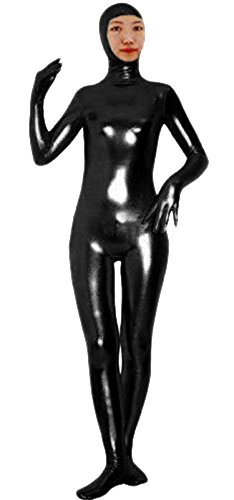 - 31HZAvK89sL - VSVO Shiny Spandex Open Face Full Bodysuit Zentai Suit for Adults and Children