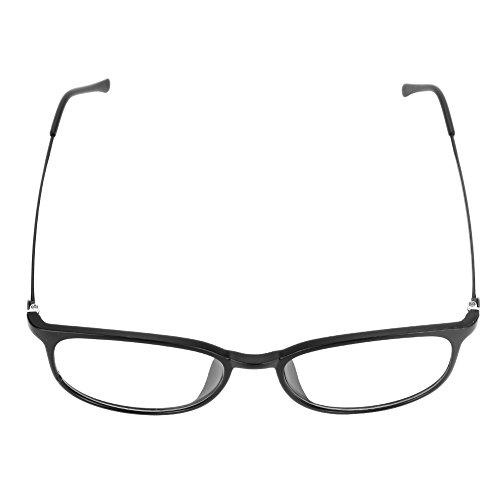 Rayonnement Rétro Lecture Plastique à Mode Transparent Unisex Protection Ovale Soleil Monture Maquillage de Léger Lunette en Acier Noir Oculaire Anti UV lunette Voyage xI4xvngU
