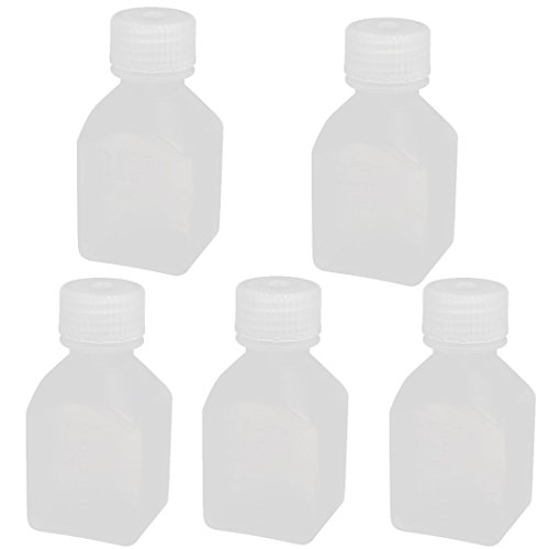 uxcell 60ml 17mm Diameter PE Plastic Oblong Shaped Wide Mouth Bottle Clear - Oblong Shaped