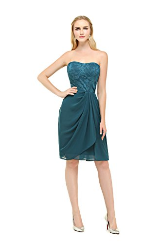 Bbonlinedress Boda Corto Gasa De Elegante Mujer Madrina Azul Para Vestido Fiesta Noche r7HrW