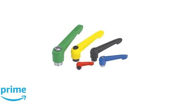 Kipp 06600-2A22 Plastic Adjustable Handle with 1//4-20 Internal Thread,Novo Grip Style Inch Size 2 Orange Color Steel Components