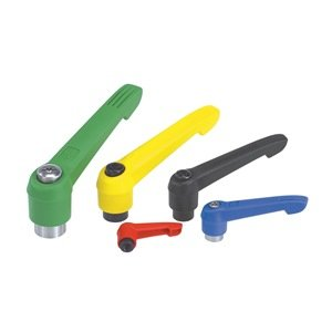 Kipp 06601-3A316 Fiberglass Reinforced Plastic/Steel Adjustable Handle with 5/16-18'' Internal Thread, ''Novo·Grip'' Style, Stainless Steel Components, Inch, Size 3, Bright Yellow Color by Kipp