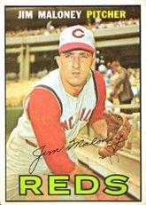 1967 Topps Regular (Baseball) Card# 80 Jim Maloney of the Cincinnati Reds VG Condition ()
