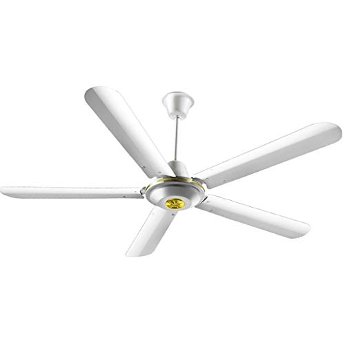 Ceiling fan ZHAOSHUNLI Can Be Adjusted 56 Inch Iron Leaf Without Lamp 5 Leaf Industrial Mute Home Living Room Dining Room Electric Fan 1.4 ()