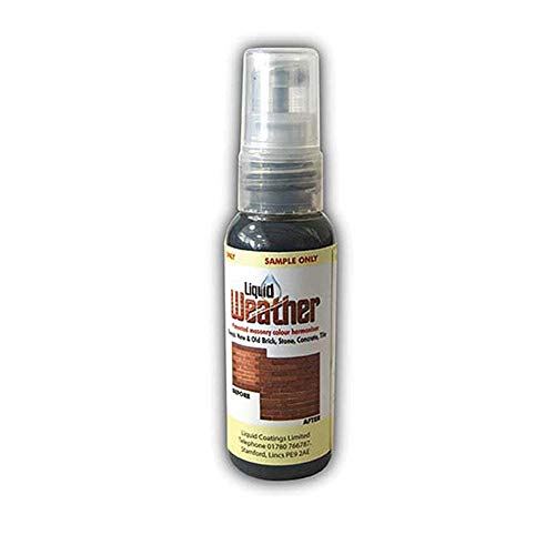 Weathering Solution (Liquid Weather 50ml Tester Spray   The Original Ageing Solution   Ageing and Matching Brick, Tile, Render, Stone and Other Masonry)