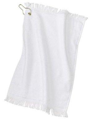 Joe's USA - Grommeted Fingertip Golf Towel (White) ()