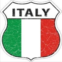 Italy Highway Shield Novelty Metal Magnet HSM-287 by Smart Blonde