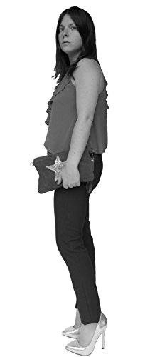 histoireDaccessoires - Clutch de Cuero de Mujer - PO000923I-Alvaro AzulAzul