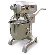 Omcan SP200AT 20 Qt Planetary Dough Mixer With Timer and Guard plus 3 Attachments