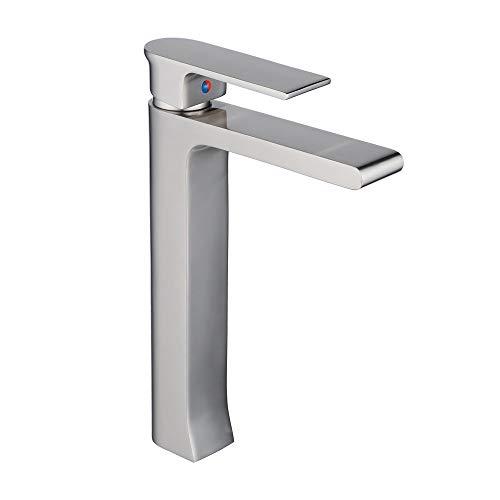 Leekayer Single Handle Bathroom Vessel Sink Faucet Brushed Nickel One Hole Deck Mount Lavatory Mixer Tap
