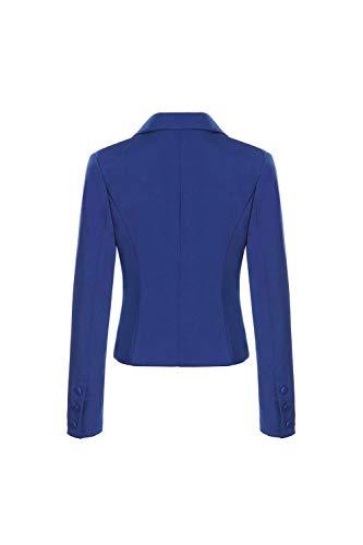 Manica Giacca Primaverile Blu Tailleur Con Ragazza Donna Button Scuro Di Bavero Prodotto Autunno Business Plus Blazer Camicia Chic Moda Da Lunga Ufficio Sottile rvz1r4xqw