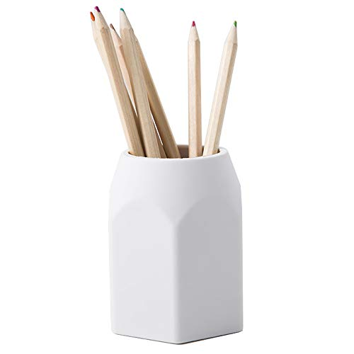 YOSCO Silicone Pencil Holder Pen Cup for Office Desktop Stationery Organizer (White) ()