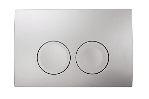 Geberit Delta 21 Dual Flush Push Button Plate Matte Chrome 115125461