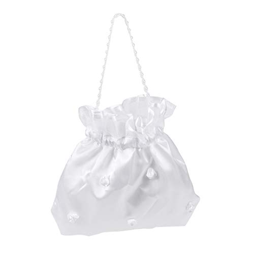(BESTOYARD Wedding Bags Satin Money Bag Bridal Bridesmaid Dolly Bag Handbag)