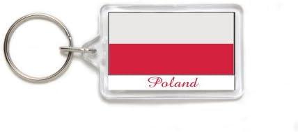 Amazon.com: Souvenir de Polonia bandera acrílico de doble ...