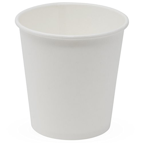 Simply Deliver 10 oz Paper Hot Cup, Single-Wall, Poly-Coated, White, 1000-Count (Disposable Poly Cups)