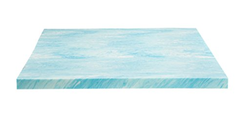 DreamFoam Bedding DF20GT2050 2″ Gel Swirl Memory Foam Topper, Queen, Blue