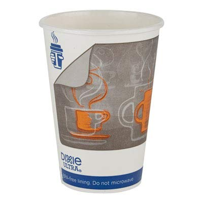 Dixie Ultra INSULAIR Paper HOT Cup, 16 OZ, Coffee, 50 Cups/Sleeve, 20 Sleeves/CT
