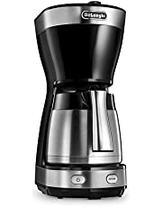 De'Longhi ICM 16710 termos sürahili filtre kahve makinesi, siyah/gümüş