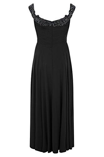 Damen petrol Kleid Stil Curve Astrid 31012712 mit Schwarz Dynasty lange blau Schal 5YOtwxzq