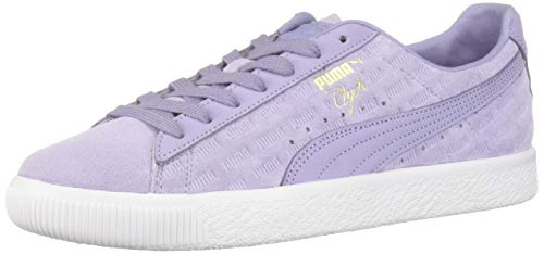 PUMA Men's Clyde Sneaker Sweet Lavender White, 10 M US
