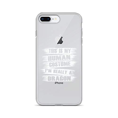 iPhone 7 Plus/8 Plus Pure Clear Case Crystal Clear Cases Cover This is My Human Costume Really A Dragon Transparent]()
