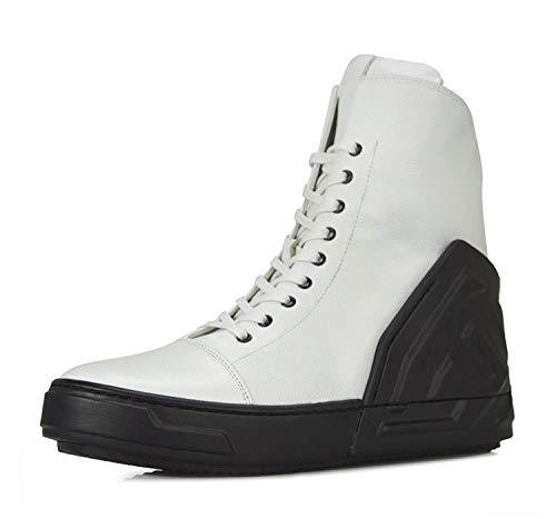Casual Spesso Calzature Tacco White Piatto da Fondo Uomo Stivaletti Sportive 6qRtXgRn