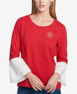 s Embellished Logo Blouse Red M ()