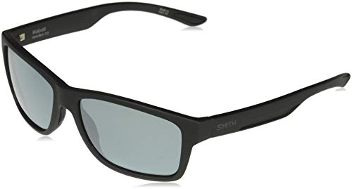 (Smith Wolcott ChromaPop+ Polarized Sunglasses, Matte Black, Platinum Lens)