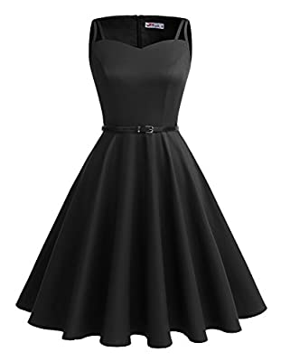 Alagirls Vintage 1950s Rockabilly Polka Dots Dress Retro Party Cocktail Dress